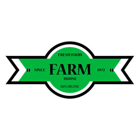 vector design of farm house badge