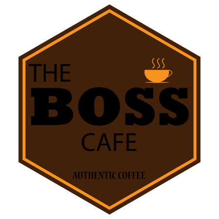 vector design of coffee cafe badge