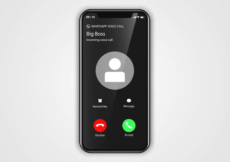 calling screen user interface Иллюстрация