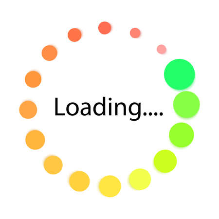 loading rotation template animation Иллюстрация