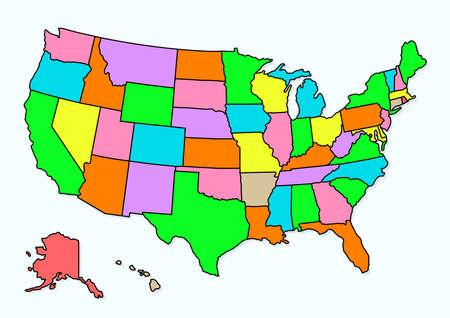 America country maps region Stock fotó - 130646086