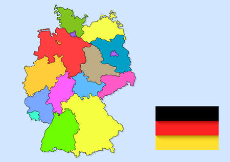 germany maps and flag country Vectores