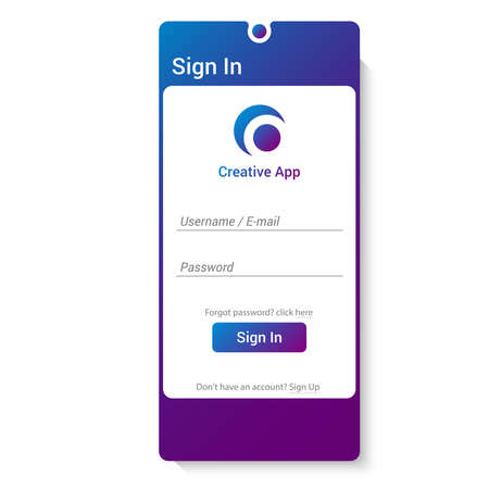 login form user interface