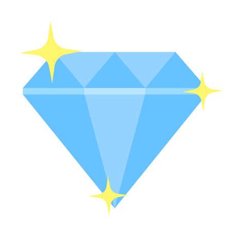 shinning diamond icon Illustration