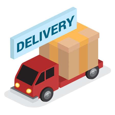 delivery truck service icon