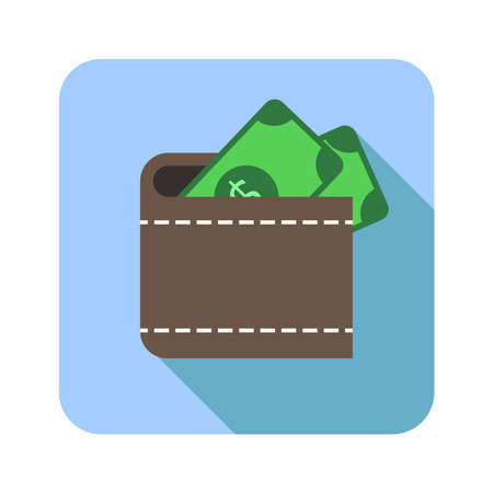 money in wallet icon 向量圖像