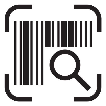 barcode searching icon 向量圖像