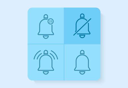ring notification icon set