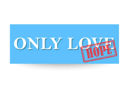 only love hope sticker 版權商用圖片 - 143302720