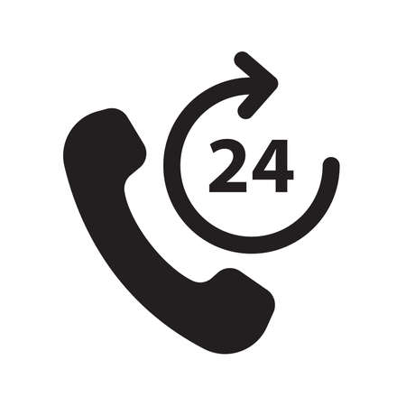 call hotline 24 hours icon