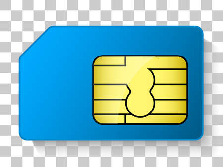 simcard chip icon blue