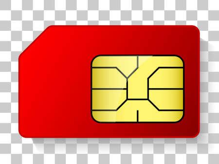simcard chip icon Illustration