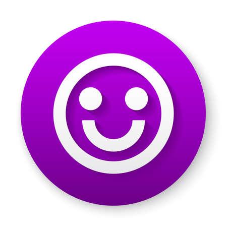 smile outline icon button