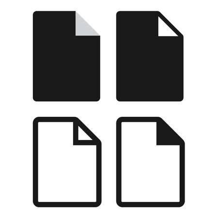 paper flat icon set