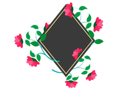 flower decorative template for text 版權商用圖片 - 143611891