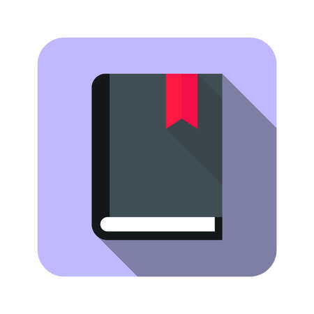 book with label icon button