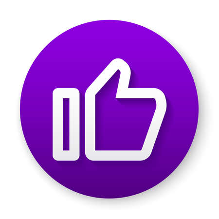 like outline icon button