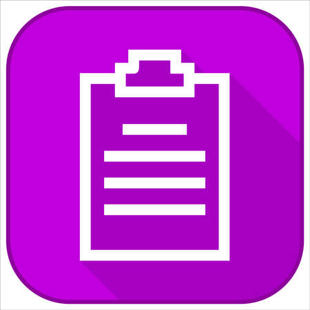 clipboard flat icon design Illustration