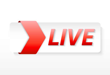 live lower third realistic effect Illustration