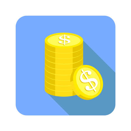 stack coin of icon button 版權商用圖片 - 143611921
