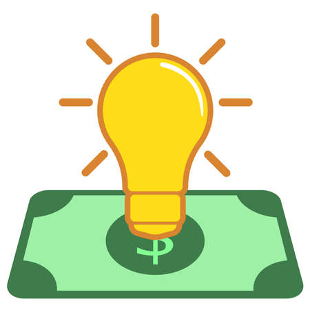 money with lamp icon 版權商用圖片 - 143079936
