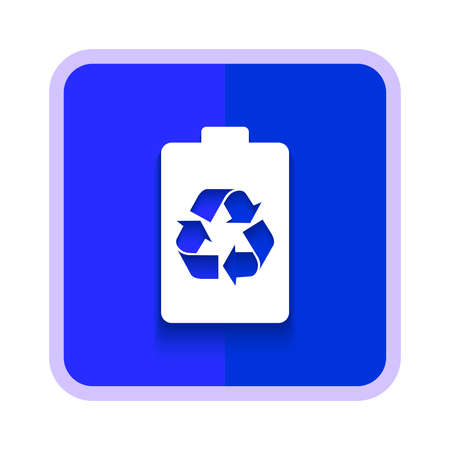 battery recycling icon button