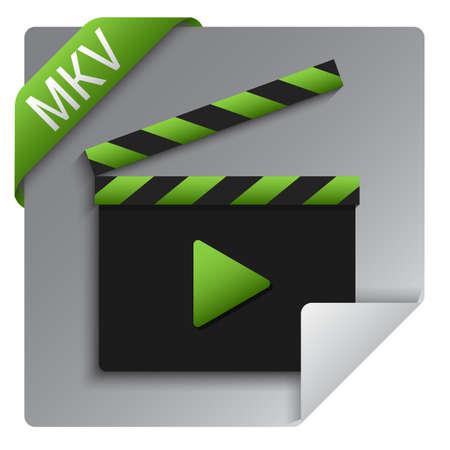 mkv format file icon design
