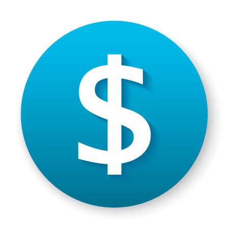 dollar icon symbol button