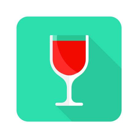 glass of wine flat icon 向量圖像