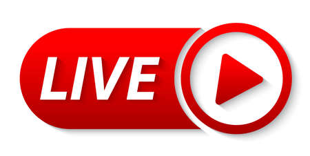 video live streaming banner 向量圖像