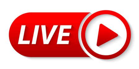 video live streaming banner Illustration