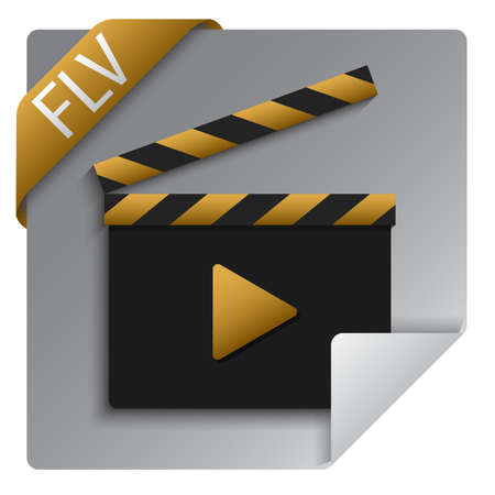 flv video format file icon 版權商用圖片 - 141593156