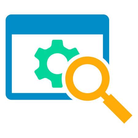 web maintenence icon 向量圖像