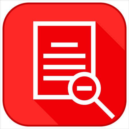 zoom out document icon Ilustração