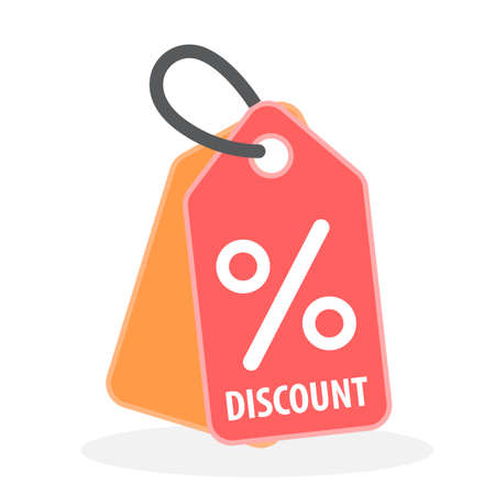 discount label icon 向量圖像