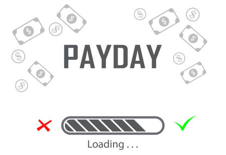 payday waiting moments background Фото со стока - 140167566
