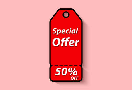 special offer label design