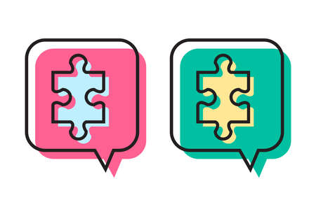 puzzle icon design 向量圖像