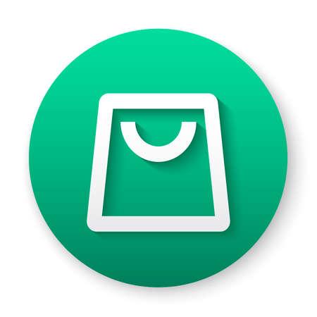 shopping bag outline icon button 向量圖像