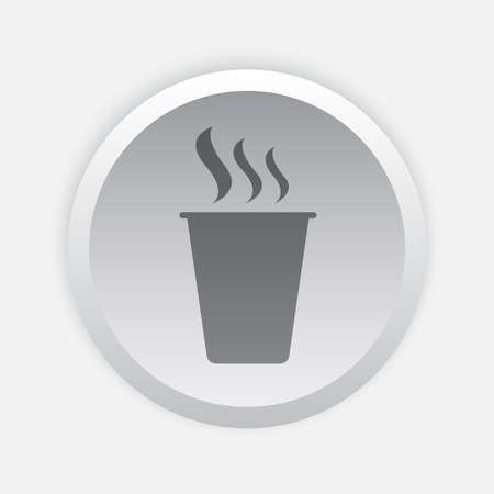 hot coffee flat icon 向量圖像