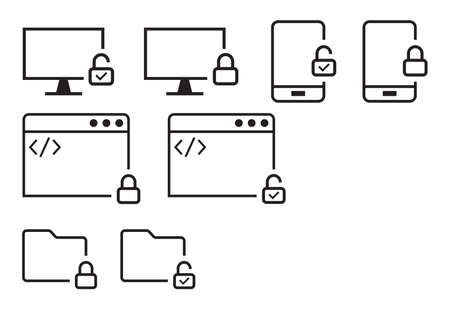 devices icon collection