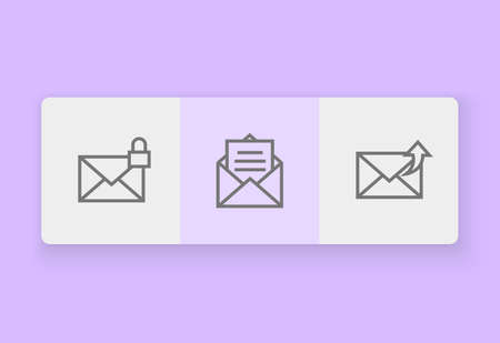 email outline icon design