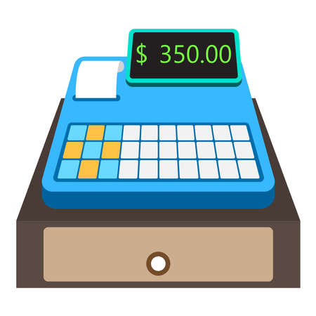 cashier machine icon design