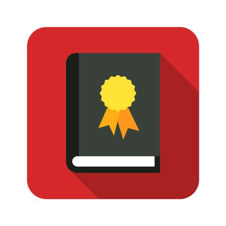 book certificate label icon