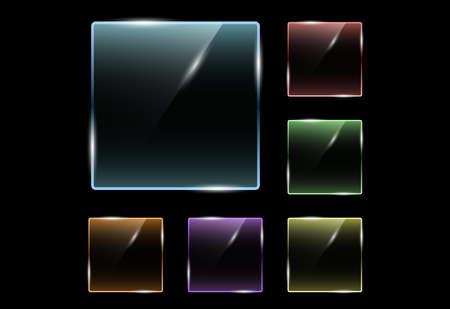 glossy square transparent effect 向量圖像