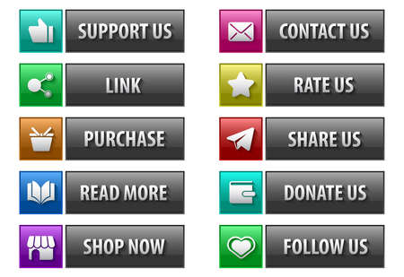 donation feedback button set