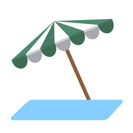 beach umbrella flat icon