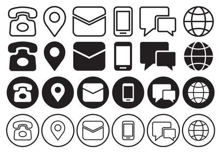 communication gadget icon set 向量圖像