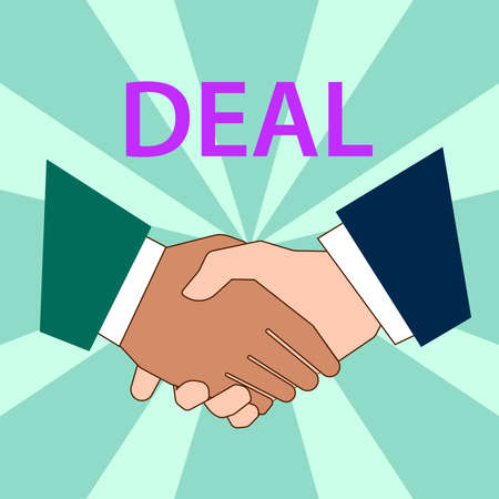 deal handshake vector illustration
