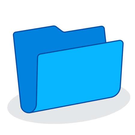blue blank folder icon 向量圖像